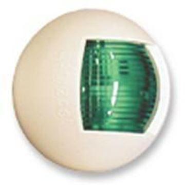 Imagen de Luz banda verde ovalada blanca