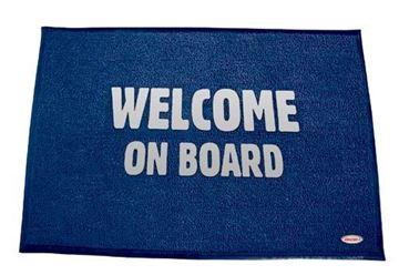 Imagen de Alfombra  Welcome azul 60 x 90 cm