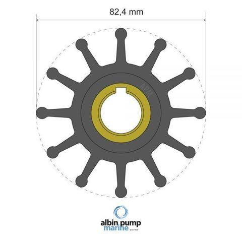 Imagen de Rotor Albin Pump PN 06-02-025