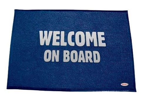 Imagen de Alfombra Welcome Azul