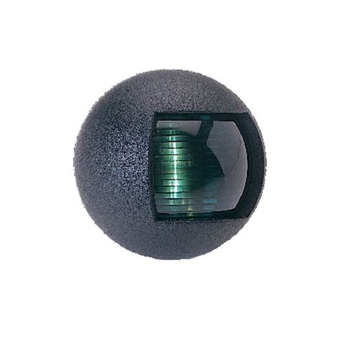 Imagen de Luz banda verde ovalada negro