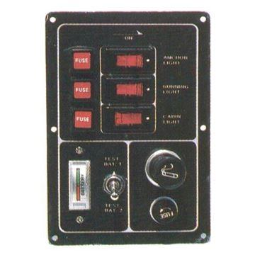 Imagen de Tablero 3 luces c/voltimetro y encendedor