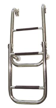 Imagen de Escalera plegable inoxidable de 2 + 3 escalones.