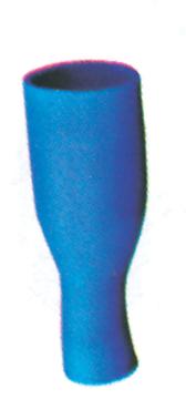 Imagen de Terminal doble crimpado Azul